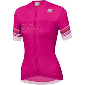 Sportful Sticker Jersey Pyöräilypaita Naiset, bubble gum dark pink white